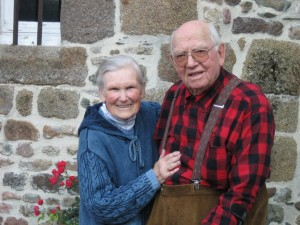 Herman and Genevieve Menke at Manoir. Genevieve Passed Away in 2010. Herman in 2014.