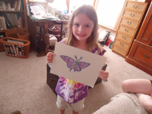 Isabella Butterfly, Age 6